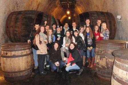 day-trip-to-pilsen-students-in-a-brewery-cellar